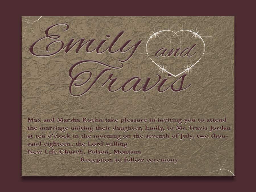 Entry #1 by Anojka for Design my wedding invitation | Freelancer