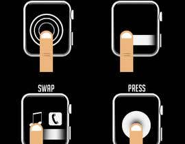 #17 cho Graphic images for touch interaction on a smartwatch bởi iamrohitc