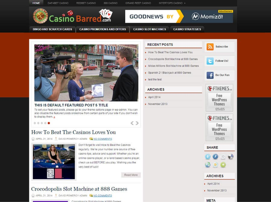 Penyertaan Peraduan #                                        19                                      untuk                                         Design a Logo for casinobarred.com