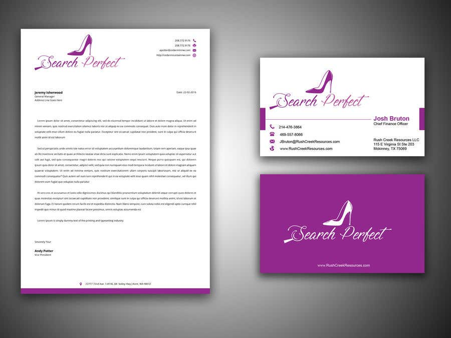 entry 9 by abdulmonayem85 for letterhead business card and