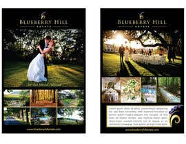unidot tarafından Graphic Design for MARKETING BROCHURE -Blueberry Hill Estate- Wedding Specific -Media Kit for print için no 57