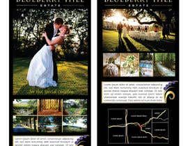 unidot tarafından Graphic Design for MARKETING BROCHURE -Blueberry Hill Estate- Wedding Specific -Media Kit for print için no 56