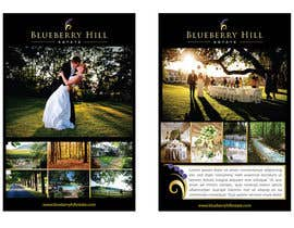 #11 pentru Graphic Design for MARKETING BROCHURE -Blueberry Hill Estate- Wedding Specific -Media Kit for print de către unidot