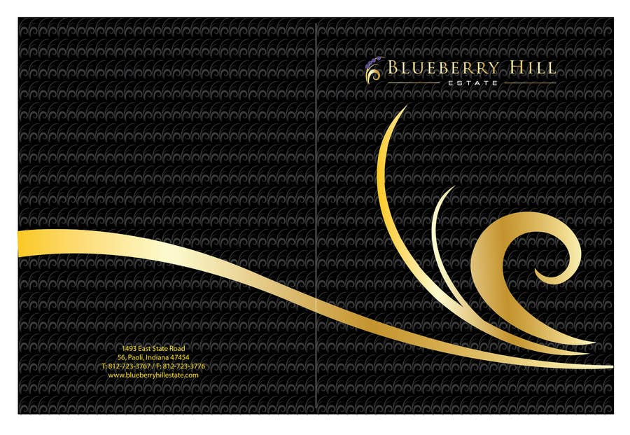 Inscrição nº 14 do Concurso para Graphic Design for MARKETING BROCHURE -Blueberry Hill Estate- Wedding Specific -Media Kit for print