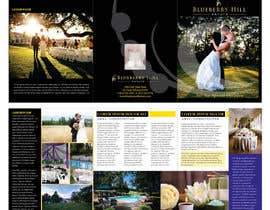 unidot tarafından Graphic Design for MARKETING BROCHURE -Blueberry Hill Estate- Wedding Specific -Media Kit for print için no 36