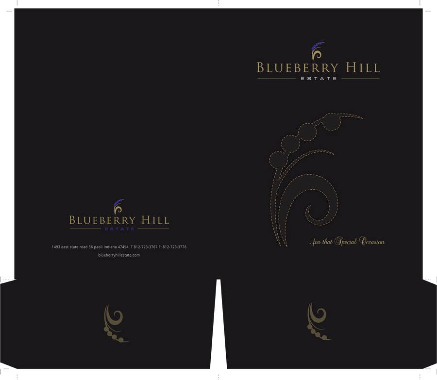Bài tham dự cuộc thi #50 cho Graphic Design for MARKETING BROCHURE -Blueberry Hill Estate- Wedding Specific -Media Kit for print