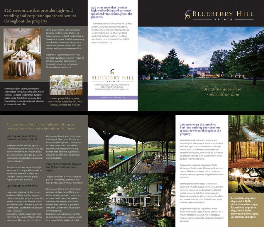 Konkurrenceindlæg #19 for Graphic Design for MARKETING BROCHURE -Blueberry Hill Estate- Wedding Specific -Media Kit for print