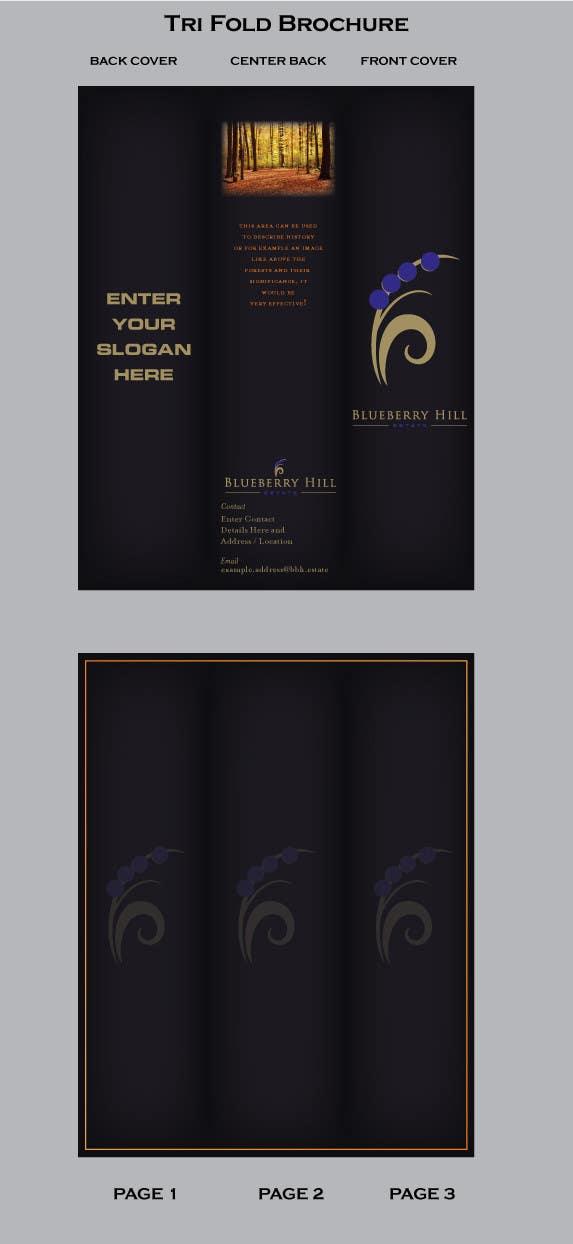 Konkurrenceindlæg #                                        2                                      for                                         Graphic Design for MARKETING BROCHURE -Blueberry Hill Estate- Wedding Specific -Media Kit for print