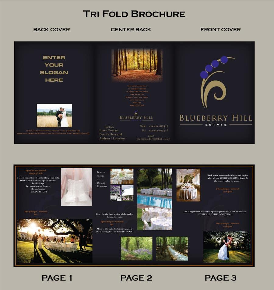 Inscrição nº 18 do Concurso para Graphic Design for MARKETING BROCHURE -Blueberry Hill Estate- Wedding Specific -Media Kit for print