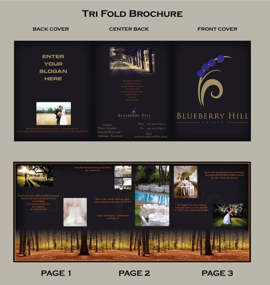 Konkurrenceindlæg #                                        6                                      for                                         Graphic Design for MARKETING BROCHURE -Blueberry Hill Estate- Wedding Specific -Media Kit for print