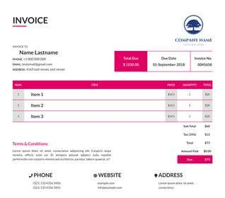 Image of                             HTML + CSS [Invoice for Computer...