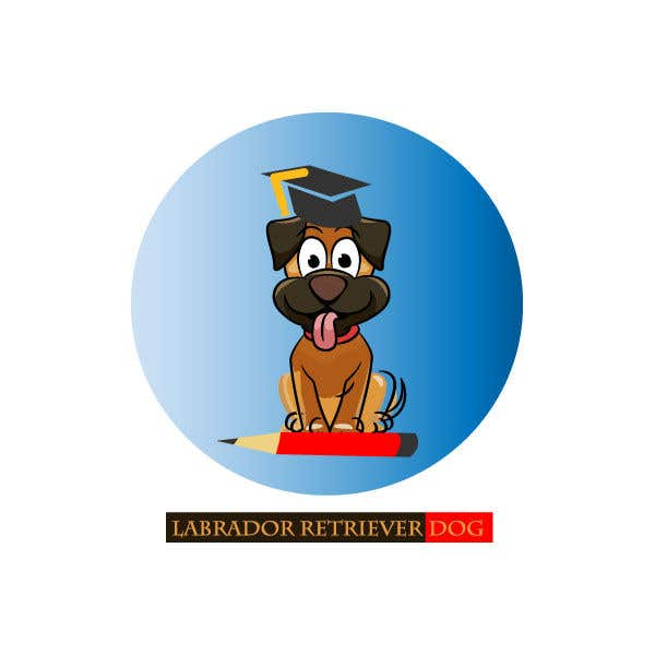 Contest Entry #14 for Logo design - Cartoon Dog Drawing logo