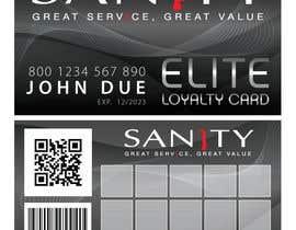 """Nro 24 kilpailuun Design a Loyalty Card for """"Sanity"""" käyttäjältä cornelee"""