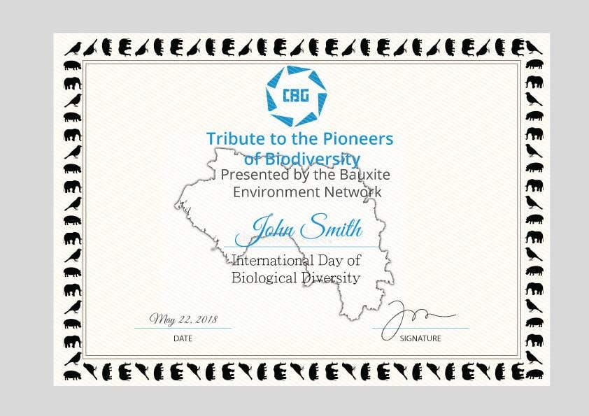 Proposition n°                                        4                                      du concours                                         certificate design