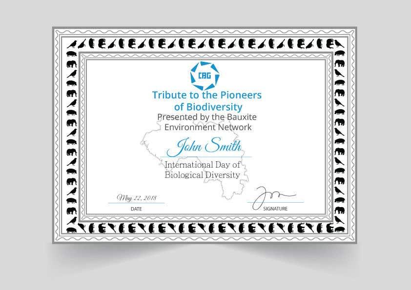Proposition n°                                        7                                      du concours                                         certificate design