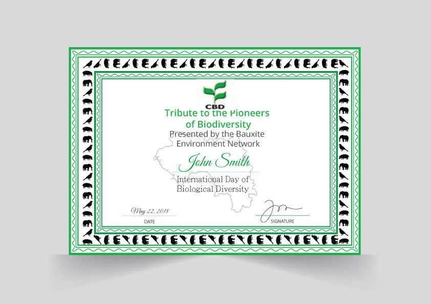 Proposition n°                                        8                                      du concours                                         certificate design