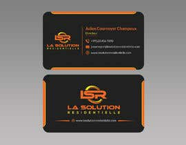 #251 for Design some business cards for the company : La Solution Résidentielle by ahtonmoy