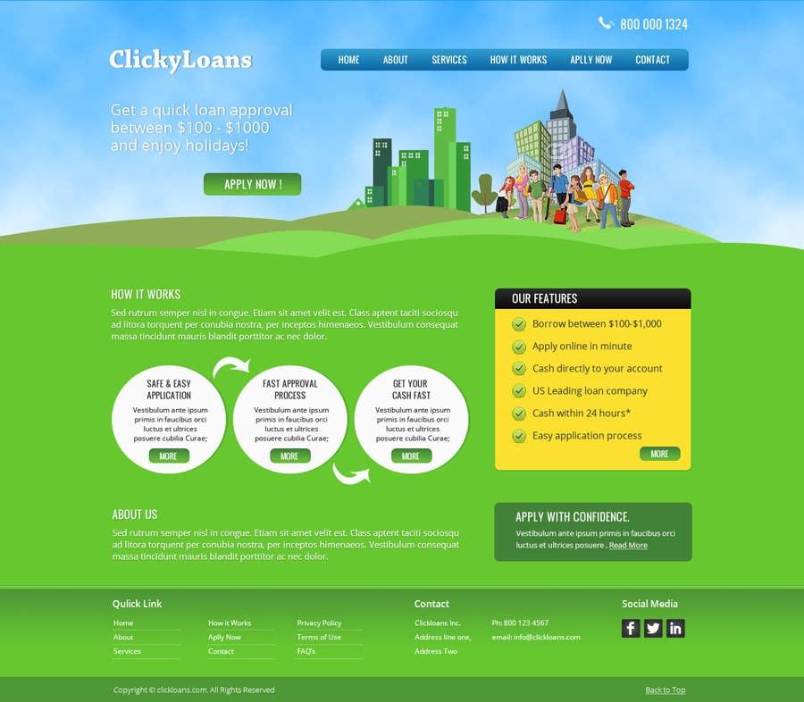 Inscrição nº 2 do Concurso para Website Design for clickyloans
