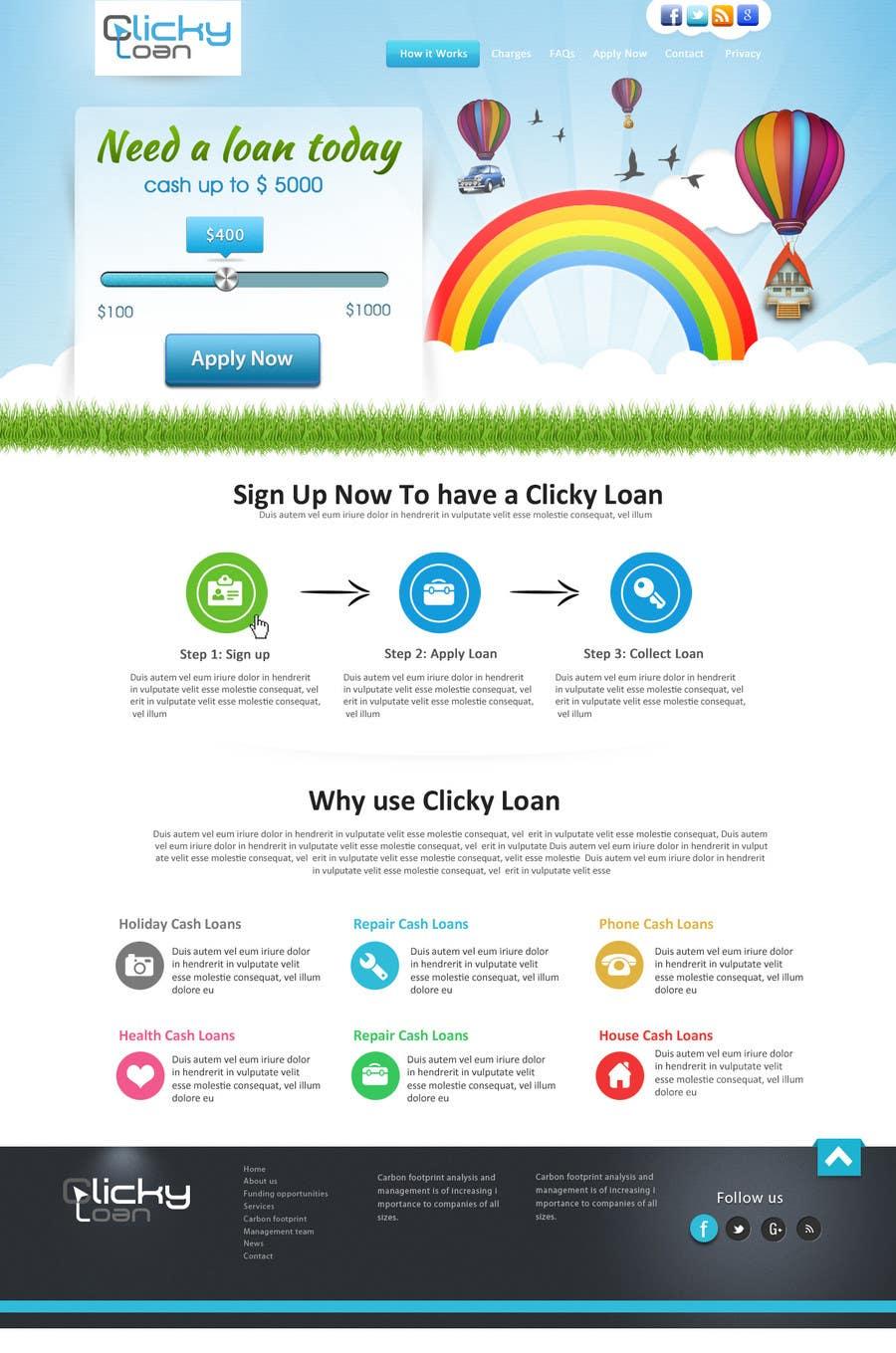 Inscrição nº 15 do Concurso para Website Design for clickyloans