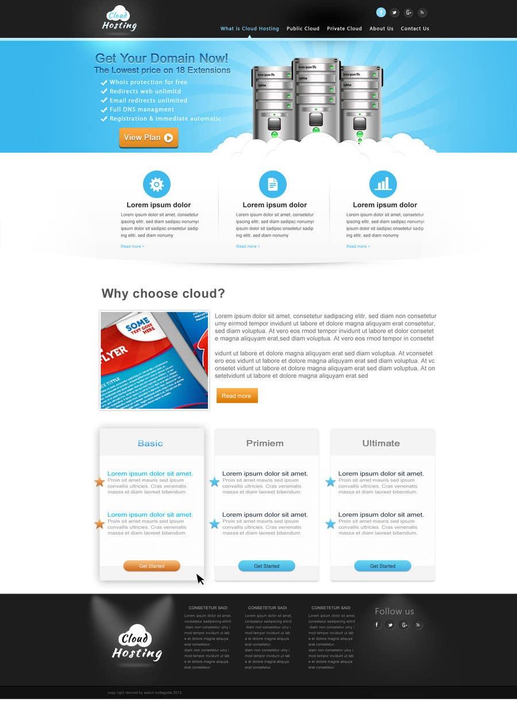 Inscrição nº                                         4                                      do Concurso para                                         Website Design for cloud hosting and cloud storage mini site for major UK hosting company