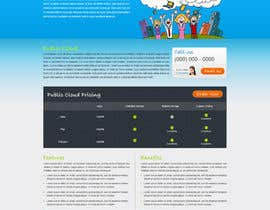Nro 39 kilpailuun Website Design for cloud hosting and cloud storage mini site for major UK hosting company käyttäjältä nitinatom