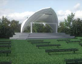 #17 for Rendering of a Saddle Span Tent in a Park by Notsncross