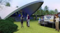 3D Rendering Contest Entry #16 for Rendering of a Saddle Span Tent in a Park
