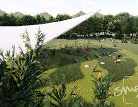 #6 for Rendering of a Saddle Span Tent in a Park by smarkies