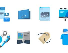 #7 for Design icons for print material categories by rivasfjl