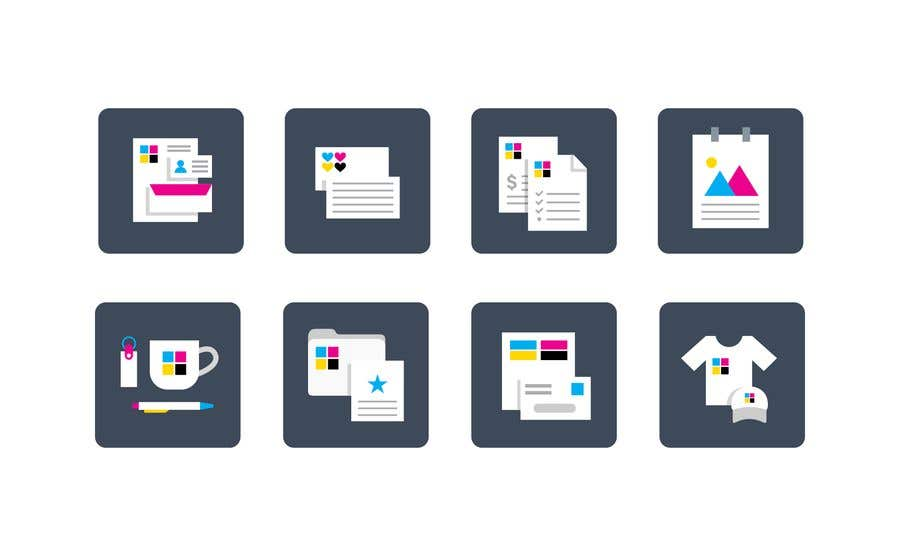 Contest Entry #13 for Design icons for print material categories