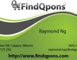 #77 dla Business Card Design for FindQpons.com przez ds78ftw