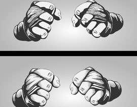 #28 for Illustrate Fists - Boxing Fist with Hand Wraps af atanasovskigorgi
