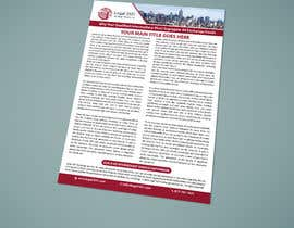 nº 128 pour Design a Flyer to be used by a financial and commercial real estate company par bachchubecks