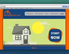 Fran10x tarafından Design a Website Mockup for Mortgage Broker: High End Design Required.  Home Page & Inner Page Design için no 7