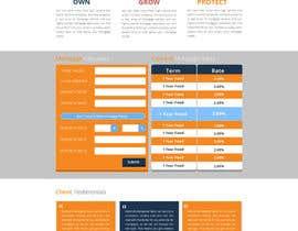 faizalmohamed88 tarafından Design a Website Mockup for Mortgage Broker: High End Design Required.  Home Page & Inner Page Design için no 44