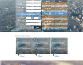 faizalmohamed88 tarafından Design a Website Mockup for Mortgage Broker: High End Design Required.  Home Page & Inner Page Design için no 49
