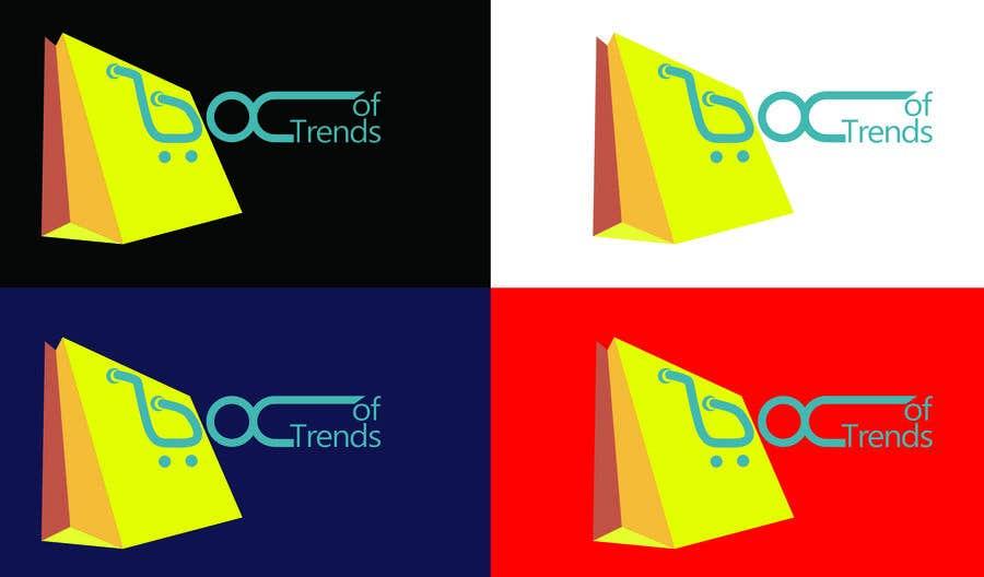 """Penyertaan Peraduan #207 untuk Logo for ecom store """"Box of trends"""""""