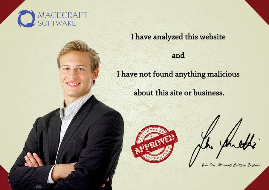 Contest Entry #22 for Website Certificate Design for Macecraft Software