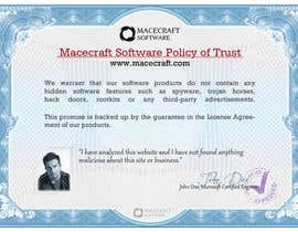 #19 cho Website Certificate Design for Macecraft Software bởi BuDesign