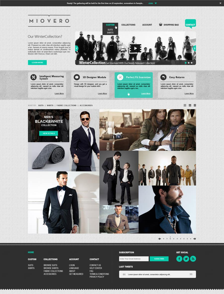 #49 for HOMEPAGE DESIGN FOR MIOVERO - and future work, read descriptions. by halfadrenalin