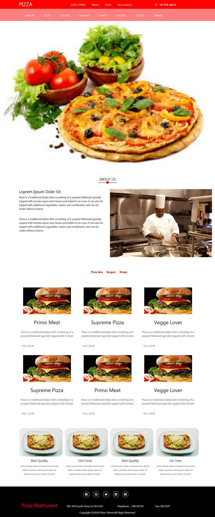 Entry 21 By Akterfr For Build A Restaurant Profile Freelancer