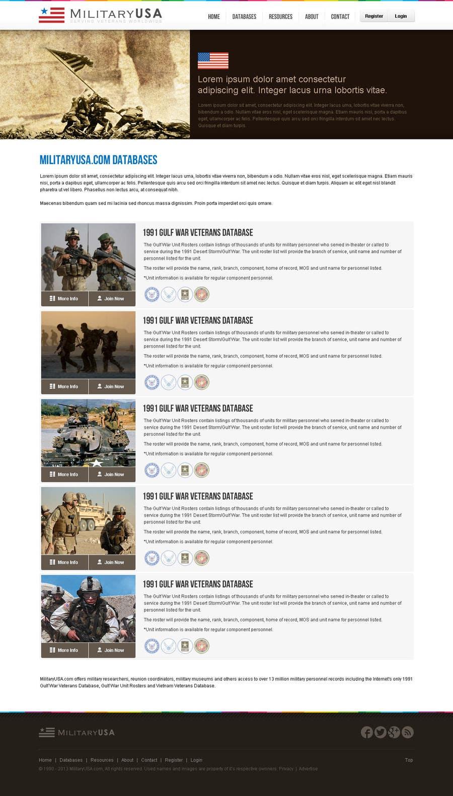 #43 for Website Design for MilitaryUSA.com by creator9
