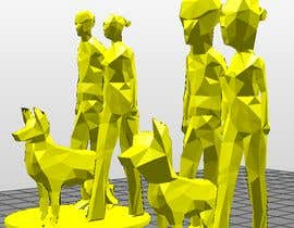 azamir1995 tarafından 3D model of boy, girl, and dog. Geometric/abstract/polygon için no 6