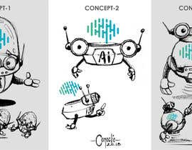 nº 57 pour Design a mascot for an Artificial Intelligence company par ecomoglio