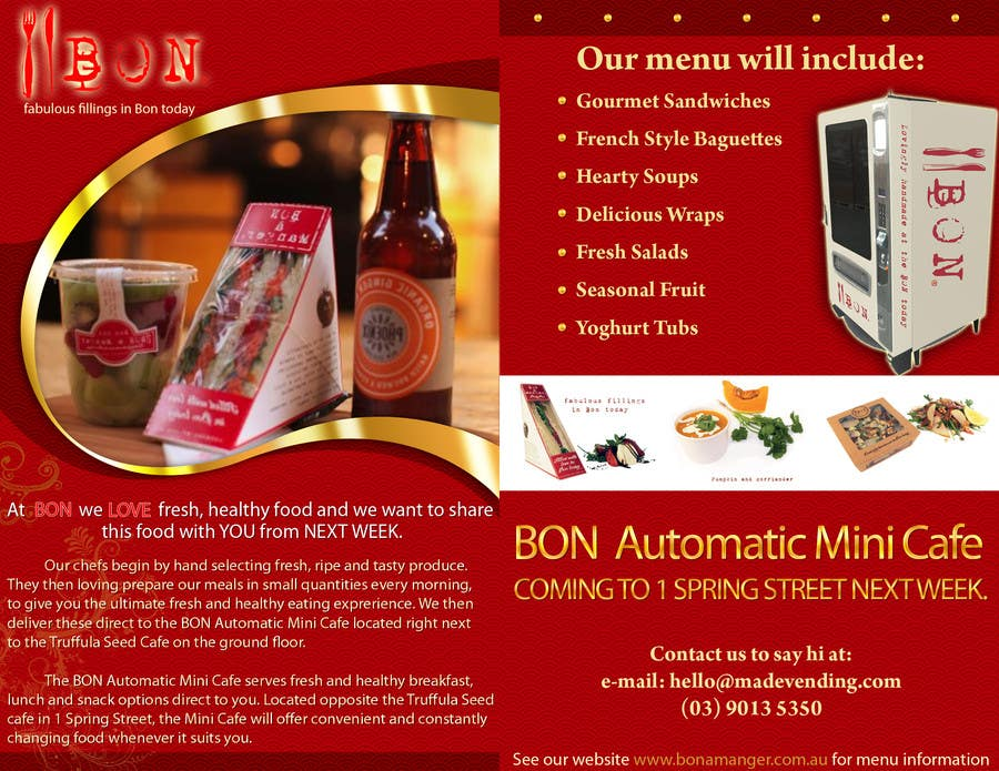 Конкурсная заявка №25 для Flyer Design for Bon a Manger