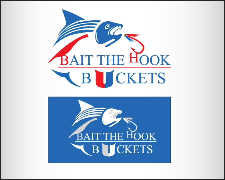 Contest Entry #72 for Logo Design for The Lively Angler or Bait the Hook Buckets  or an original new Brand Name)