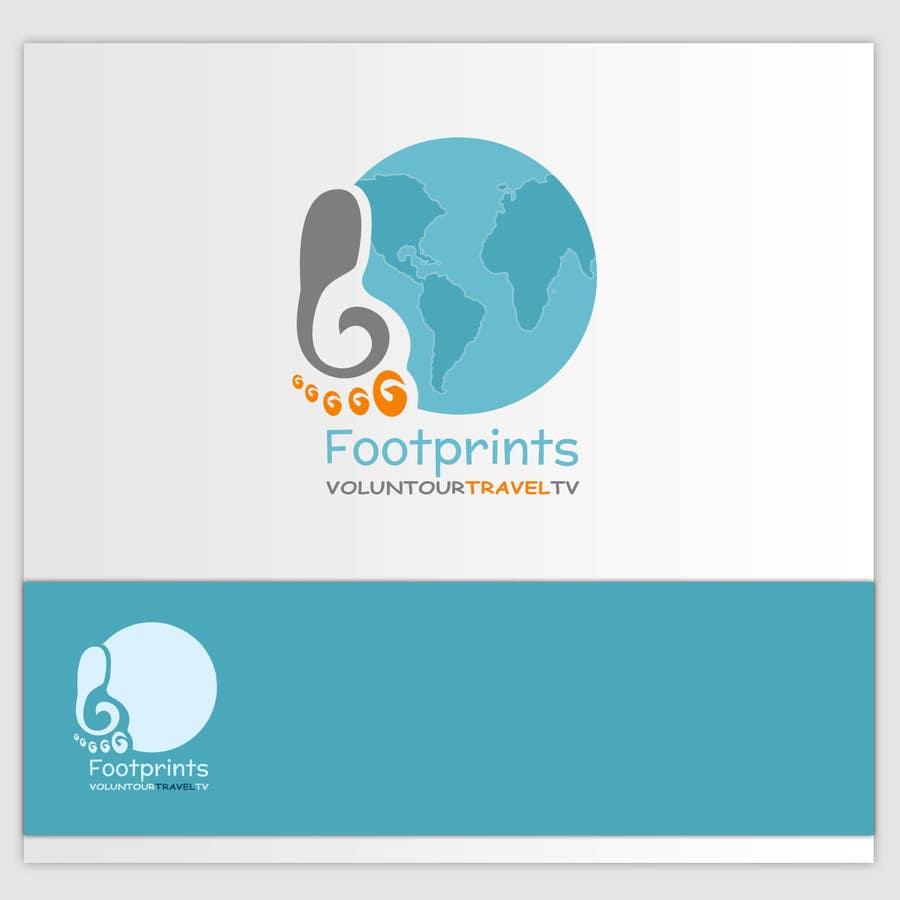 Inscrição nº                                         72                                      do Concurso para                                         Logo Design for Footprints Voluntour Travel Tv