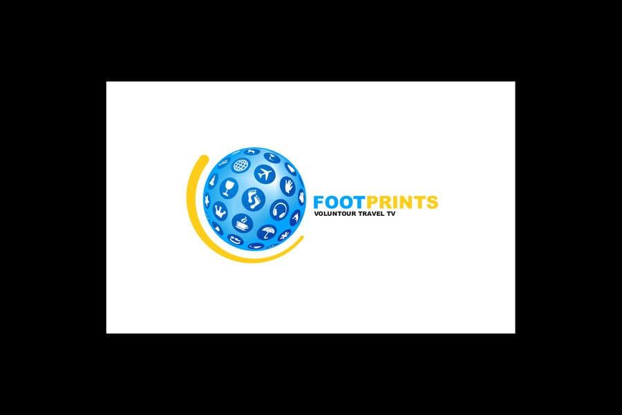 Inscrição nº                                         203                                      do Concurso para                                         Logo Design for Footprints Voluntour Travel Tv