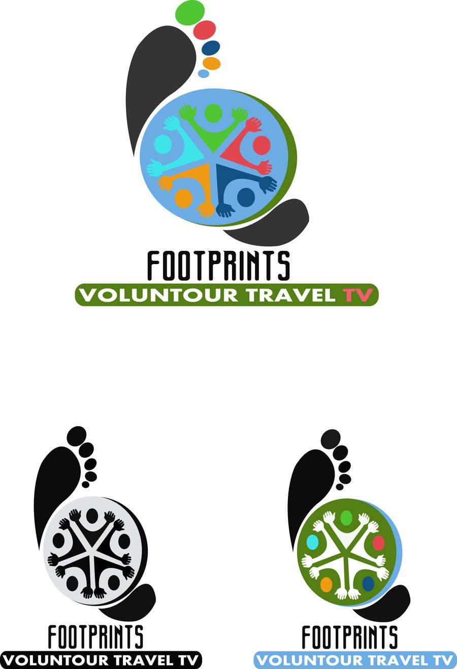 Inscrição nº                                         238                                      do Concurso para                                         Logo Design for Footprints Voluntour Travel Tv