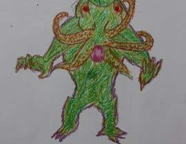 #6 for Create crayon children's drawings of terrifying monster. by SilverAces